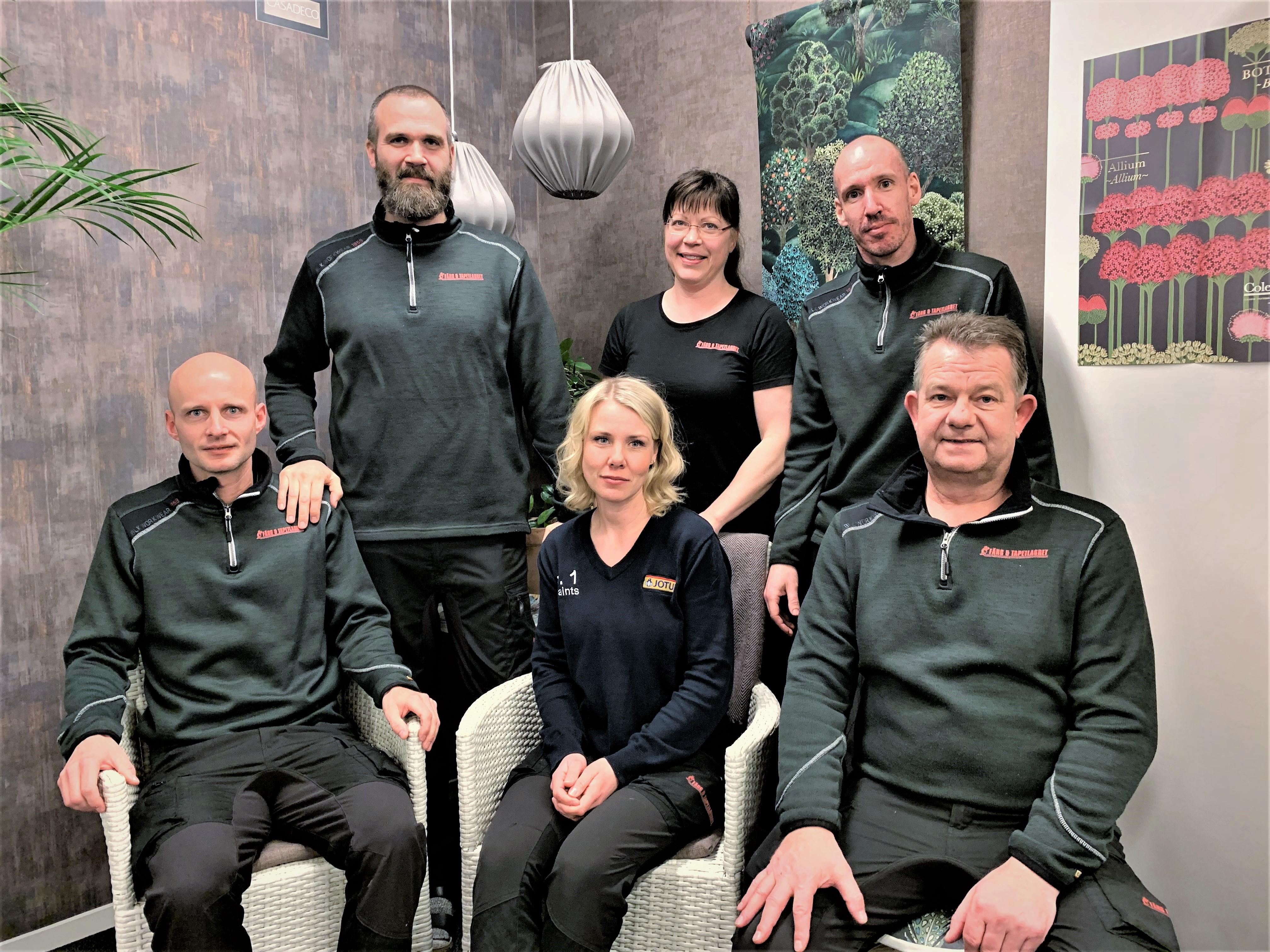Personalen på Färg & Tapetlagret i Vänersborg